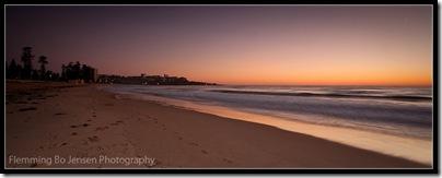Manly Beach at Dawn. Flemming Bo Jensen Photography