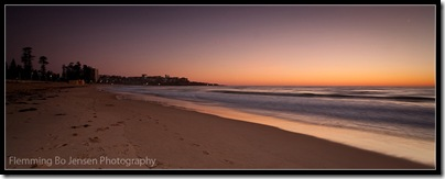 Manly Beach at Dawn. Flemming Bo Jensen Photography