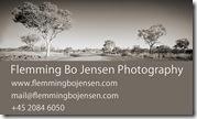 Flemming Bo Jensen Photography - back side of business card
