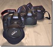 My 5D Mk II, 5D Mk I and 20D cameras