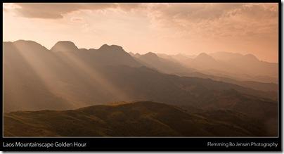 Laos mountainscape golden hour blog