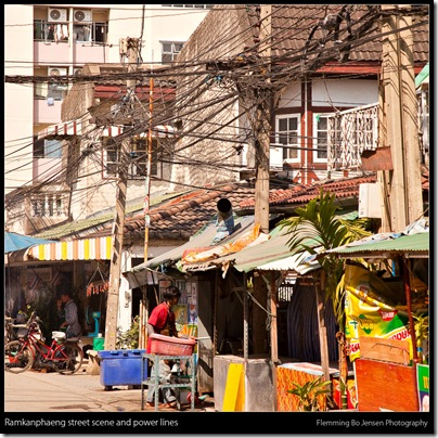 Ramkanphaeng street and power lines