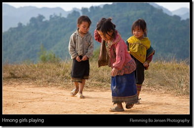 hmong girls playing - blog