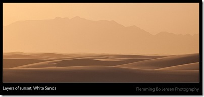White Sands glow at sunset -blog