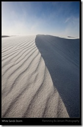 White Sands sand storm - blog