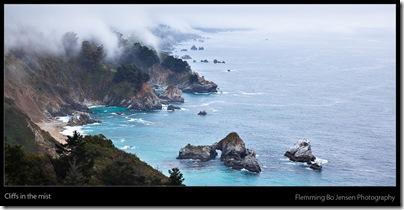cliffs in the mist - blog