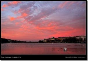 Fiery sunset Lake Peblinge -blog
